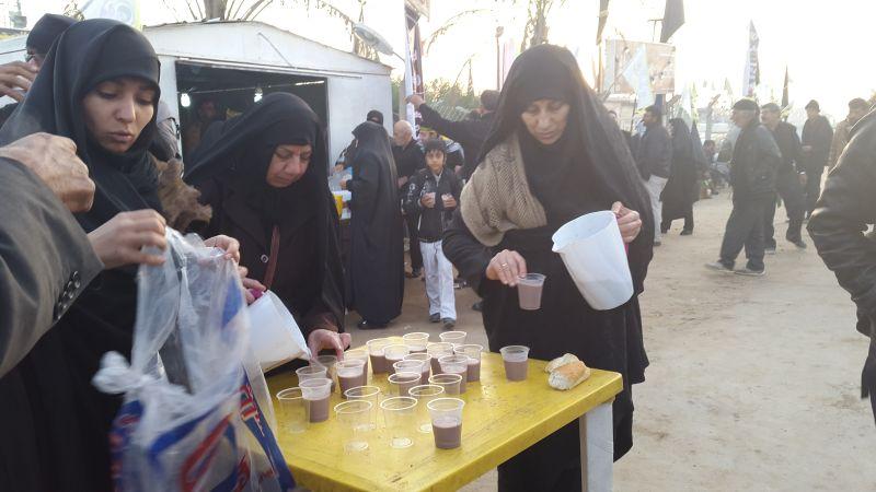 عکس هایی از فعالیت خواهران در موکب